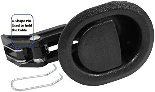 Liege Ersatzteile @ kleinen Oval Schwarz Kunststoff Ziehen Liege Griff, Flapper Stil, verpackt mit unserer eigenen, die Tasche @ Eric & Leon Logo (Flapper Tasche)