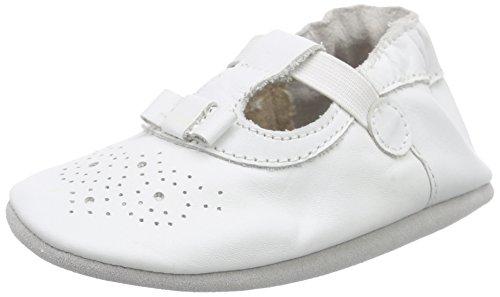 Robeez Pretty Girl, Chaussures de Naissance bébé fille, Blanc, 21/22 EU