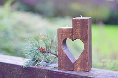Rustic heart candle holder, Country rustic candle holder, country rustic wedding table decorations, heart home decorations, mother grandmother gift, wooden candle holder décor