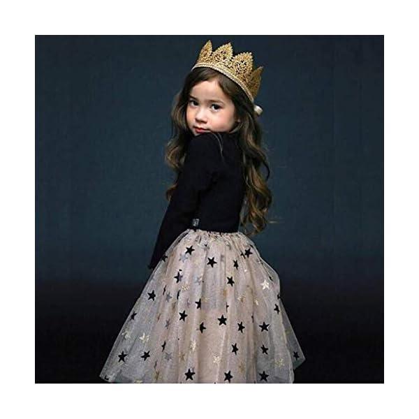 Mitlfuny Bebé Princesa Tutú Vestido de Fiesta Verano Ropa Niñas Pentagram Lentejuelas Tul Cosiendo Vestidos de Manga… 3