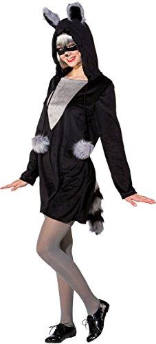 är mit Augenmaske Karneval Fasching Gr.46/48 (Damen Waschbär-kostüm)