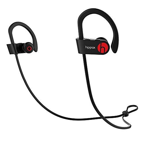 Hippox Bluetooth Kopfhörer, Moov Wasserdicht V4.1 IPX4 Drahtlos-Sport Kopfhörer Headset mit Mikrofon und Schutz vor dem Lärm für Fitness-Annullierung, Ideal für Rennen, Jogger, Wandern, Übung für iPhone 7 / 6 / 6S, 7 / 6 / 6S Plus / 5S /5 /SE /5c, Samsung Galaxy S6 / S7 Edge, Note 5, und Android Phones Ich Sport Wireless Kopfhörer