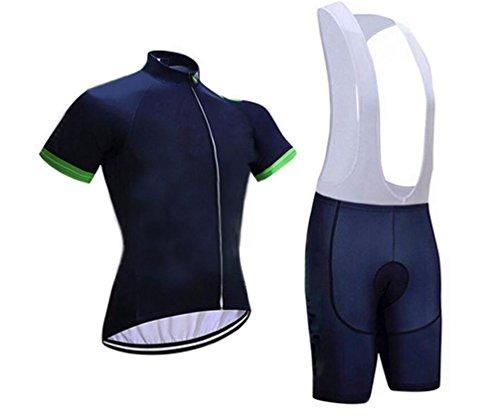 Weibliche Team Anzug (HL Jersey Kurzarm-Anzug Männliche Und Weibliche Modelle Im Sommer Grün M Wicking Radsport-Team Kleidung , Deep Blue , Xxl,deep blue,xxl)