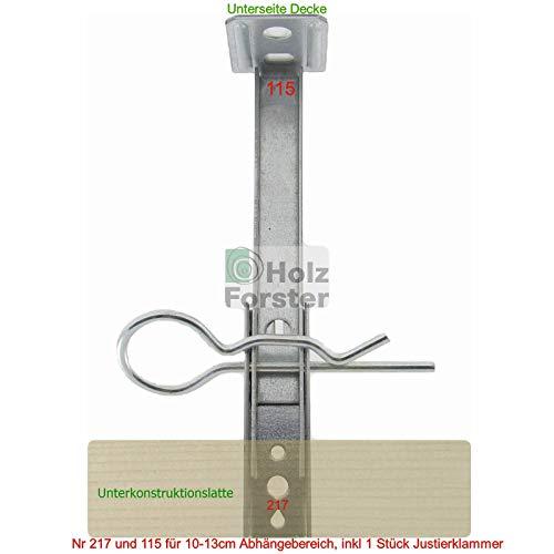 FRÜH Abhänge Set Nr. 217 und 115 Abhängebereich 10-13cm, 10Sets