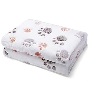 Allisandro warme und weiche Decke für Haustier wie z. B. Hunde oder Katzen, aus Korallen-Vlies, Beige, L
