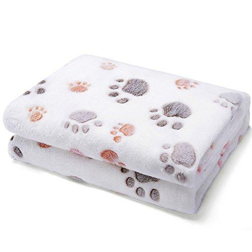 Allisandro warme und weiche Decke für Haustier wie z. B. Hunde oder Katzen, aus Korallen-Vlies, Beige, M