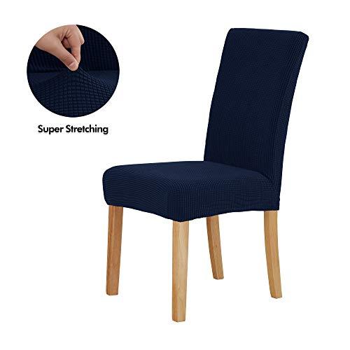 Deconovo coprisedie con schienale 6 pezzi elasticizzato moderno copertura della sedia universale per salotto blu navy