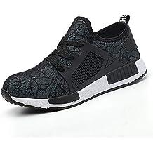 YMNL Zapatos De Seguridad, Anti-Rotura, Prevención De Pinchazos, Zapatos De Seguridad