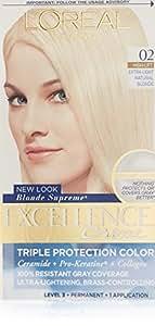 L'Oreal Crème colorante Excellence Crème - Triple protection - Enrichie en Pro-Kératine - Couleur 02 - Blond ultra clair naturel