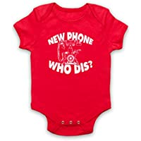New Phone Who Dis? Funny Slogan Vintage Phone Bebé Body