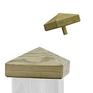 pfostenkappe aus holz f r pfosten 7x7 cm impr gniert. Black Bedroom Furniture Sets. Home Design Ideas
