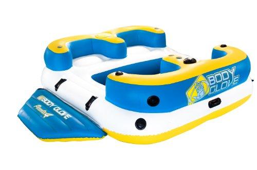 Body Glove aufblasbar Party Insel, Paradise 4Aqua Lounge Float, wasserdicht Lautsprecher und Lake Anchor System