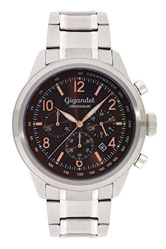 Gigandet Journey Orologio da Uomo Cronografo Analogico Quarzo Marrone G25-003