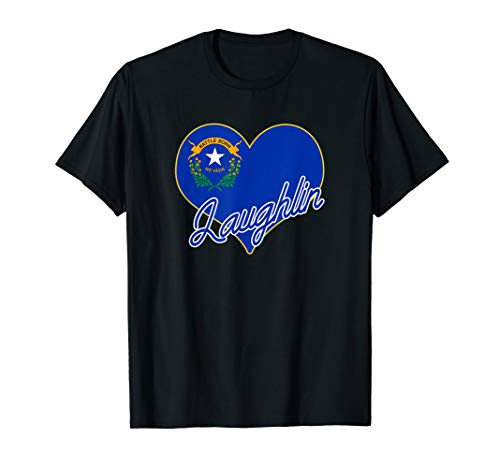 I Love Laughlin Nevada State Flag Heart Hometown Souvenir  T-Shirt