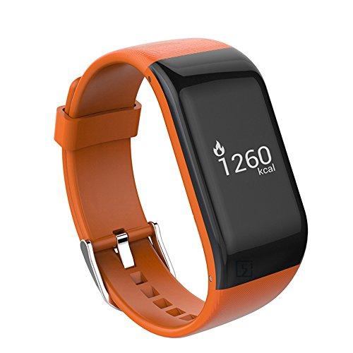 Braccialetto Fitness,VERTTEE Touchscreen OLED Fitness Tracker/Activity Tracker/IP67 Smart Bracelet - Misurazione Frequenza Cardiaca/Contapassi/ Monitoraggio del Sonno/Fotocamera/ Notifiche Chiamate/SMS/Whatsapp/Facebook