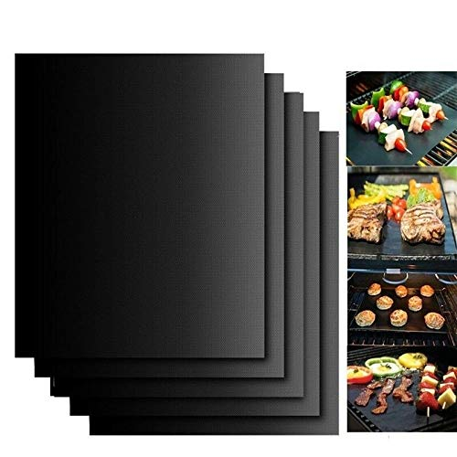 LACKINGONE Wiederverwendbare Baking Matte BBQ Cooking Matte Black Wiederverwendbare Nonstick Sheet Ofen Tray New Non-stick Sheet