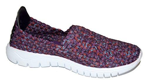 tmy B1370Femme pantoufles/Slip Ons Chaussures basses, Couleur Violet–Taille 36–41 Multicolore - Violet