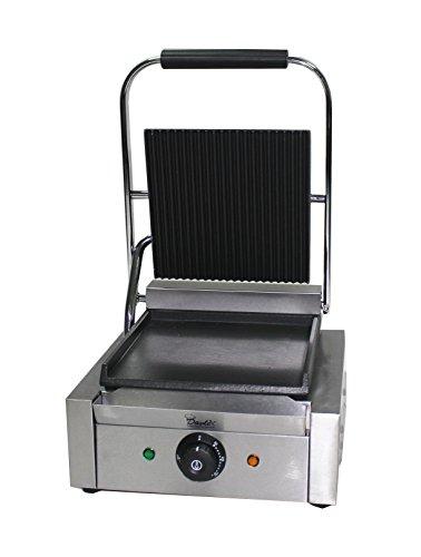 Panini-presse Maschine, Pannini, Aussteller, Kommerzielle Kontaktgrill, Elektrisch Heizplatte, Gerippt Bratpfanne Effekt Toaster