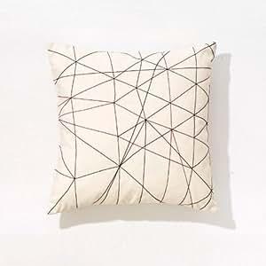 arper gego kissen beige kvadrat remix stoff 2 47x47cm. Black Bedroom Furniture Sets. Home Design Ideas