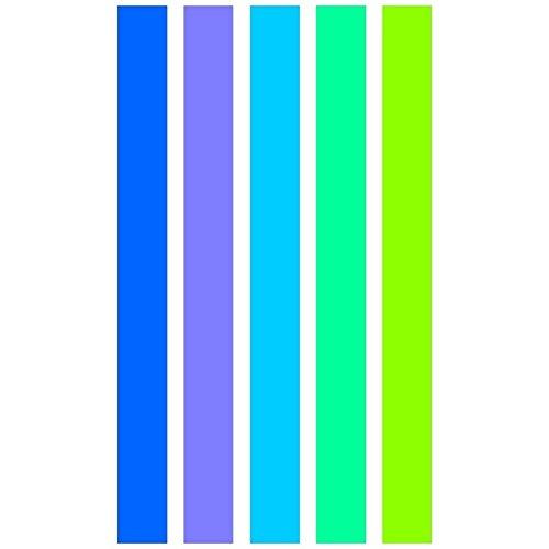 Paris Prix - Drap De Plage 95x175 Cm Aqua Blue