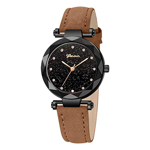 Uhren Damen Schöne Mode Armbanduhr Damenuhr Runde Armbanduhr Schüler stilvolle Edelstahl Uhren Spire Glasgürtel Quarzuhr für Paar ABsoar