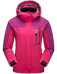 Aieoe - Chaqueta Deportivo para Mujer Impermeable para Invierno Otoño Abrigo  para Deportes al Aire Libre d0800f81c275