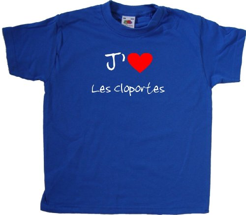 fruit-of-the-loom-t-shirt-jaime-les-cloportes-enfant-bleu-roi-imprime-blanc-et-rouge-9-11-ans