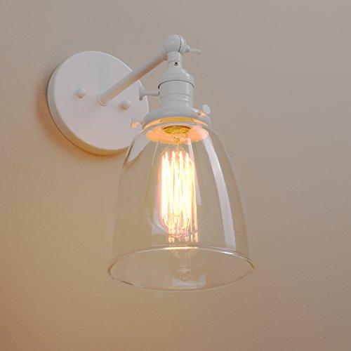 Pathson Antik Deko Design Kleine Glocke Klar Glas innen Wandbeleuchtung Wandleuchten Loft-Wandlampen Wandbeleuchtung (Weiße Farbe)