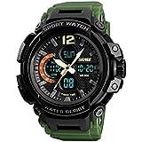 سكيمي ساعة رياضية ضد الماء موديل 1343 اخضر جيش