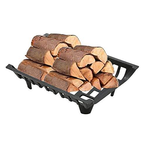 Pinty Feuerrost Kamin mit Füßen aus Stahl 8mm dick Kaminrost Kohlerost Gitterrost Fireplace Log Grate für Holz und Kohle 45.7cm x 30.5cm x 12.2cm