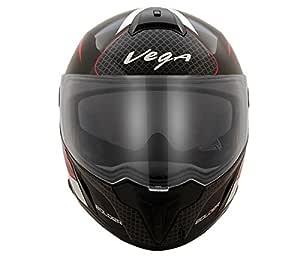 Vega Ryker Bolder Full Face Helmet (Black/Red, M)