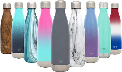 Simple Modern 500ml Wave Wasserflasche - Trinkflasche Vakuum Isolierte Doppelwandige 18/8 Edelstahl...