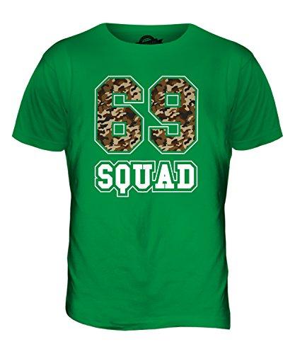CandyMix Squad 69 Camuffare T-Shirt da Uomo Maglietta Verde