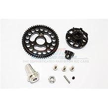 Traxxas Slash 4x4 Low-CG Version Upgrade Parts Aluminium Gear Adapter With Steel 32 Pitch 56T Spur Gear & 13T Motor Gear - 1 Set Black