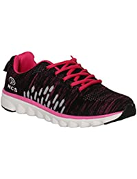 NCS Women's Black & Pink Mesh Running & Gym Sport Shoes