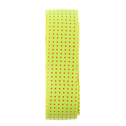 SM SunniMix Leichte rutschfeste Polymer Bat Grip Tennis Badminton Tape Band - Fluoreszierendes Gelb