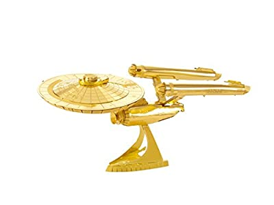 Star Trek Metallbausatz USS Enterprise 1701 gold 50 Jahre limitierte Sonderauflage von Fascinations