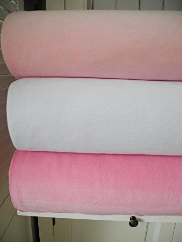 Lottashaus Stoffpaket no1V Nicky 3x 50cm Rosa Pink Weiß Baumwollnicky Nicki Kinderstoff Fat Quarter