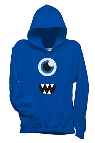 Sweatshirt Face Monster Surprise - LUSTIG by Mush Dress Your Style - Baby-S-Blau