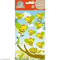 Téo et Zina Bees Sticker Board, Felt, multi-coloured, 18.5x 9.5x 0.2cm