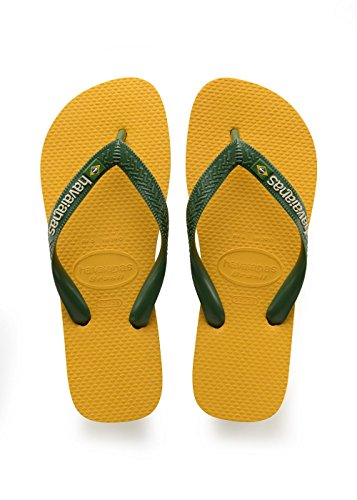 Havaianas Brasil Logo, Tongs Mixte Adulte, Jaune (Banana Yellow), 37/38 EU (35/36 Brazilian)