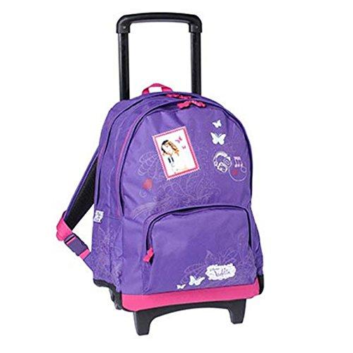 Zaino, motivo: Violetta, con rotelle, colore: viola