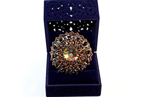 Exklusive Brosche, Trendige Brosche, Swarovski Crystalen, Perlenstickerei, Einzigartiger Schmuck,Modeschmuck