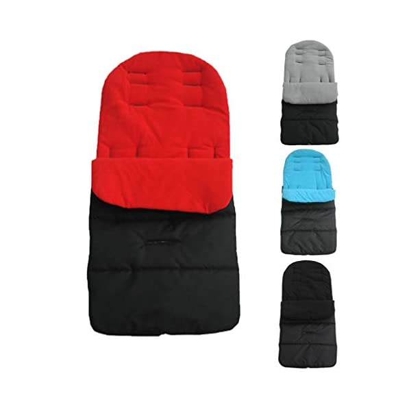 DENGHENG Multi-Function Baby Stroller Sleeping Bag Children Kids Trolley Thickened Swaddl DENGHENG ❤ Baby carriage sleeping bag, Multi-functional universal stroller sleeping bag. ❤ Made of high quality oxford and fleece, it is warm, windproof and waterproof. ❤ Removable, easy to clean, adjustable, adjust the position according to your baby's length. 8