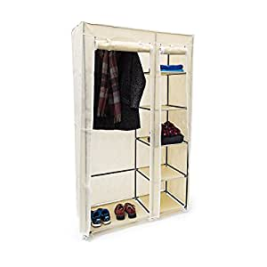 relaxdays faltschrank valentin xl hxbxt 174x107x42 5 cm stoffschrank aus vlies mit. Black Bedroom Furniture Sets. Home Design Ideas