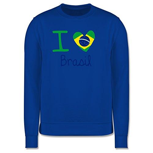 Länder - I love Brasil - Herren Premium Pullover Royalblau