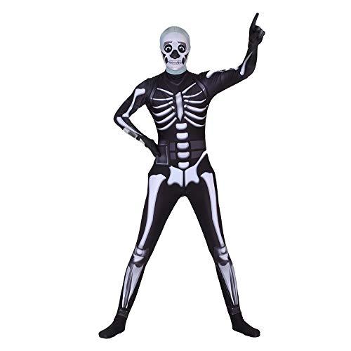 CHENGXIAOXUAN Halloween Festung Nacht, Schwarze Husaren Trooper Cosplay Einteilige Eng Anliegende Kleidung Maskerade Kostüm,Black-S