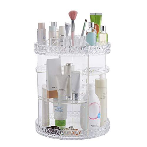 ChanYYw Make-up-Organizer, Kosmetikregal, 360 Grad verstellbar, Kristall, für Parfüm, Schmuck, Schreibtisch, Aufbewahrung - Geschenk für Frauen Mehrfarbig -