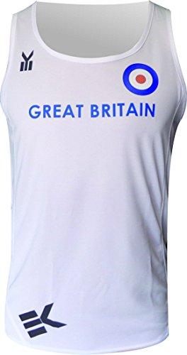 EKEKO SPORT Ekeko Great Britain, Great Britain Tank, Herren Running Tank Top, Laufen T-Shirt für Das Laufen, Leichtathletik und Strandsportarten, Sehr Atmungsaktiv und Leicht, XL