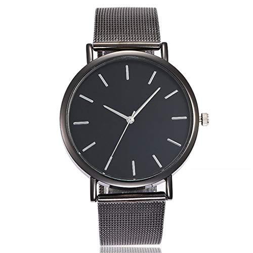 Dorical Damen-Armbanduhr Armbanduhr für Damen, Frauen Uhren Mesh-Gürtel Slim Uhr/Frau Luxus Mode Analoge Uhr, Glas Minimalistische Quartz Analog Uhren Sale(Schwarz)